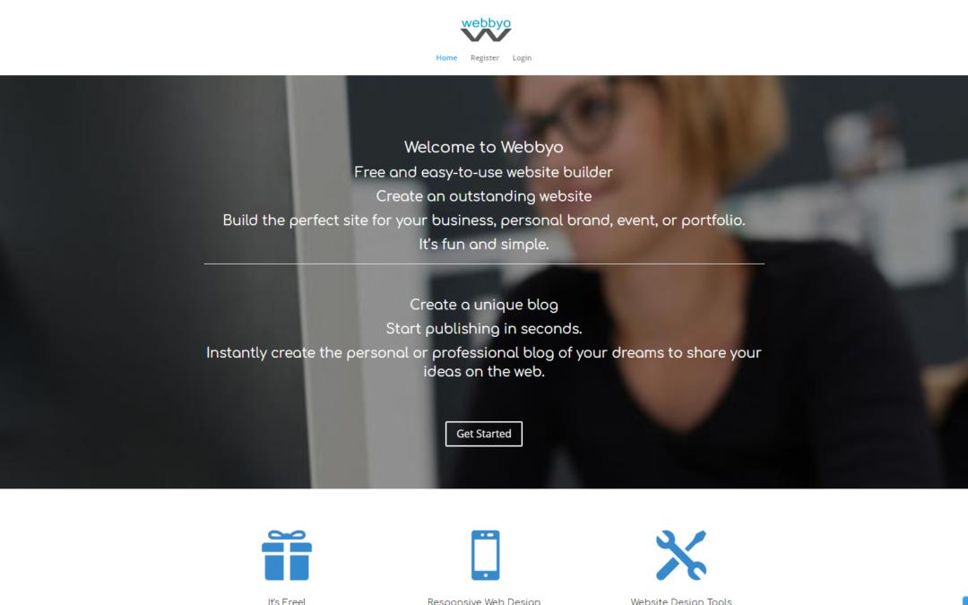 Webbyo – create a free website